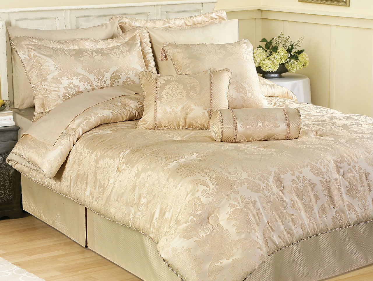 quilt beatrice shams design loom with please stitch product ivory duvet select copper color pick
